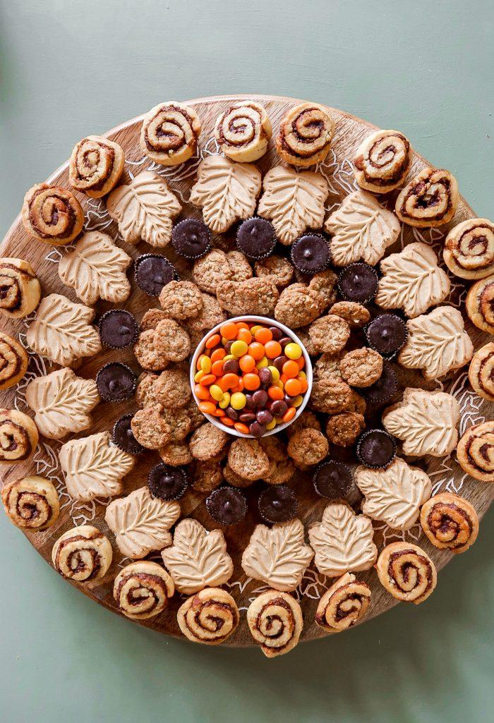 Lazy Susan Fall Dessert Board