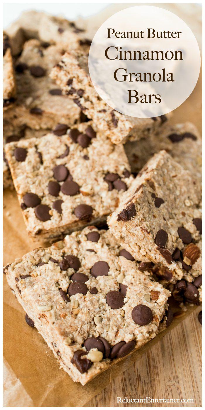 Peanut Butter Cinnamon Granola Bars Recipe