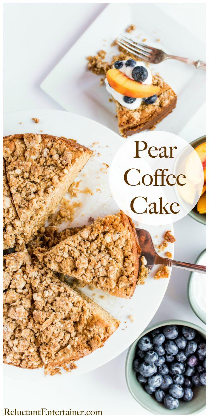 BEST Pear Coffee Cake