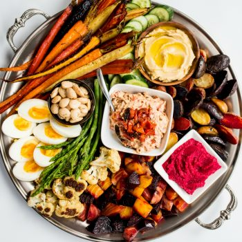 Roasted Veggie Crudite Platter