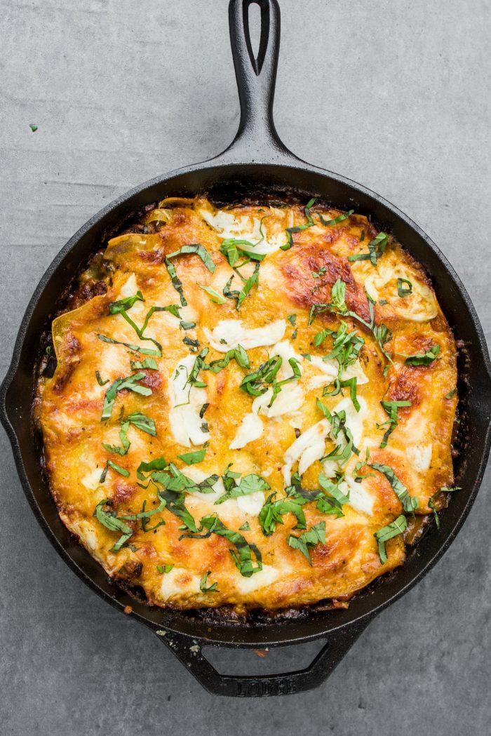 TASTY Skillet Lamb Pumpkin Lasagna