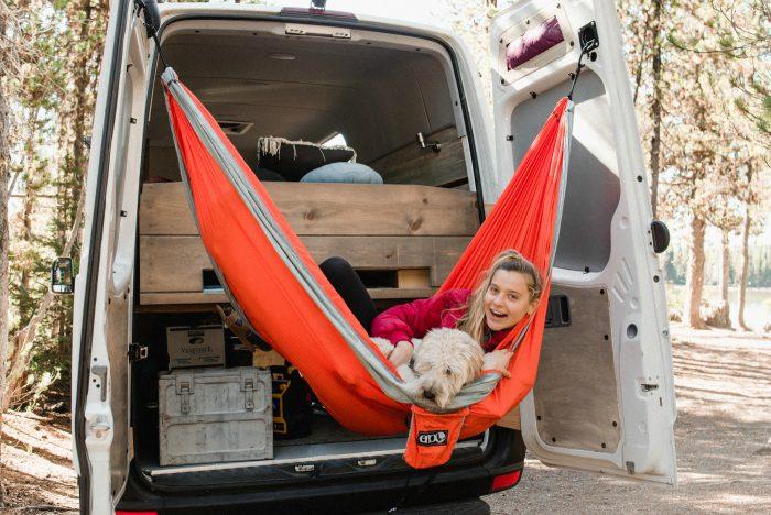 Best Sprinter Van Conversion: ENO hammock