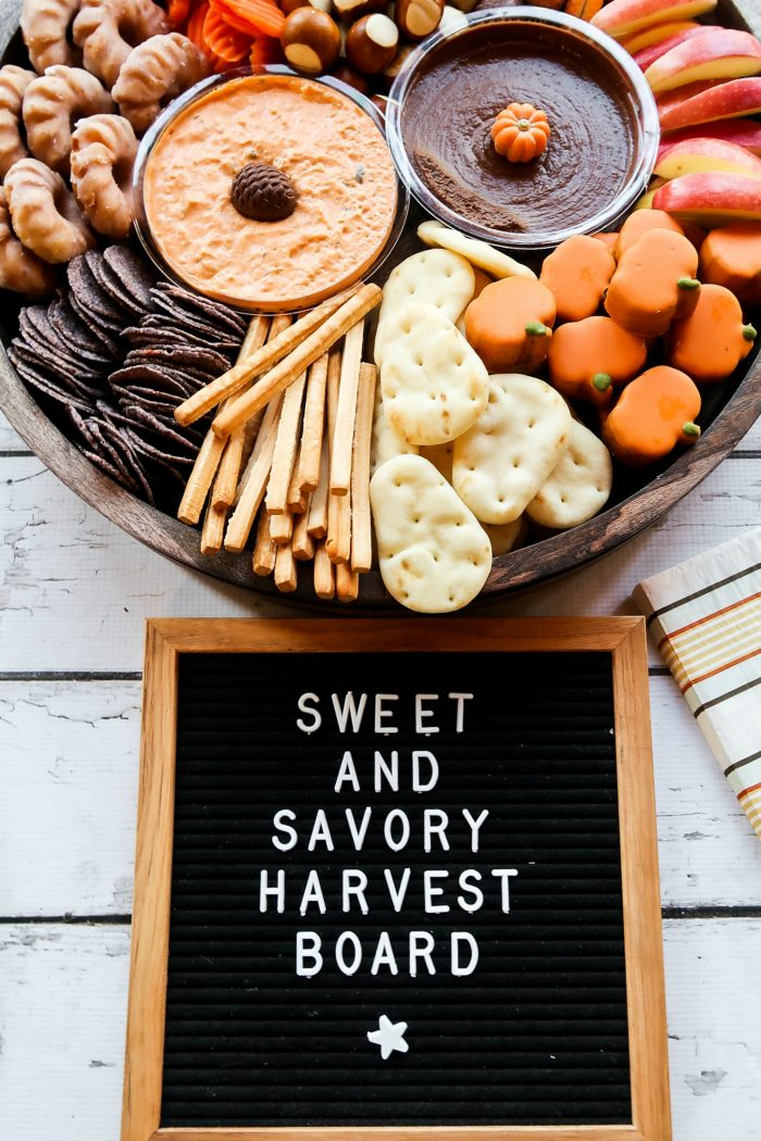 EASY Sweet and Savory Harvest Snack Board