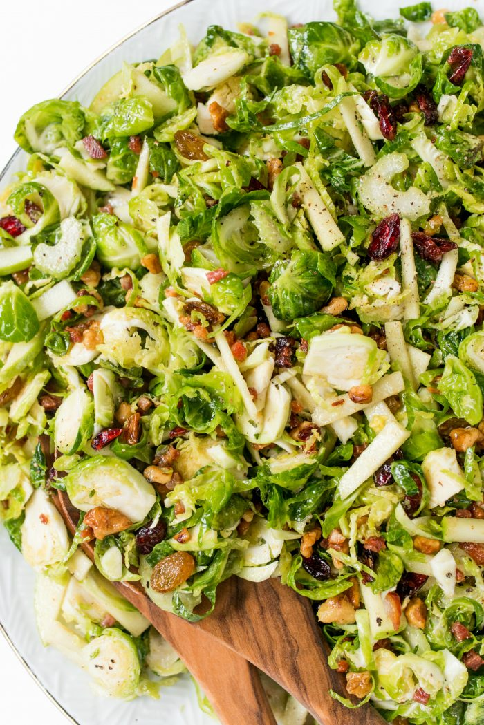 Light Waldorf Brussels Sprout Salad Recipe