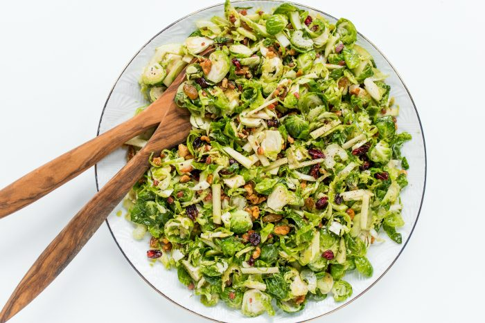 Easy Waldorf Brussels Sprout Salad