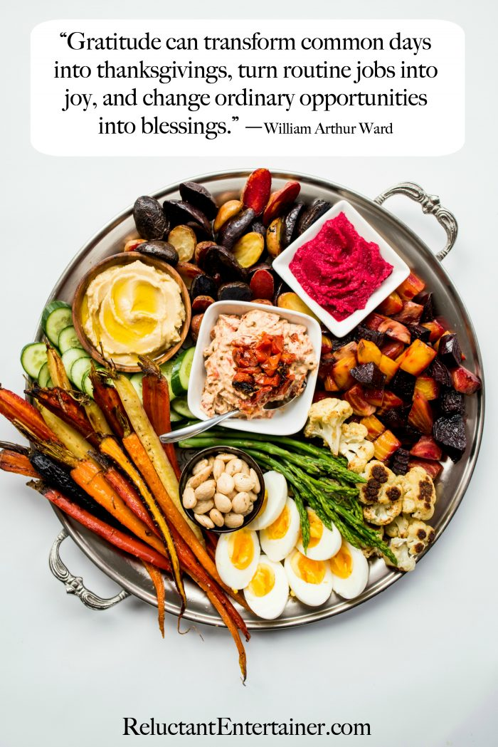 Gratitude can transform common days ... Roasted Veggie Crudite Platter