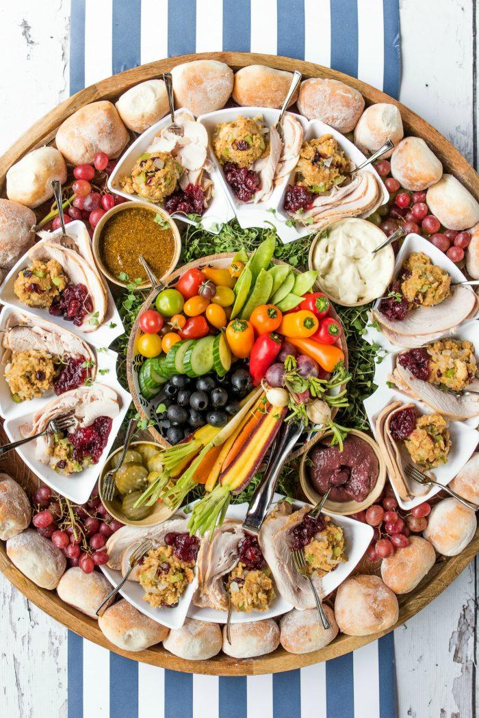 Epic Friendsgiving Turkey Sandwich Board