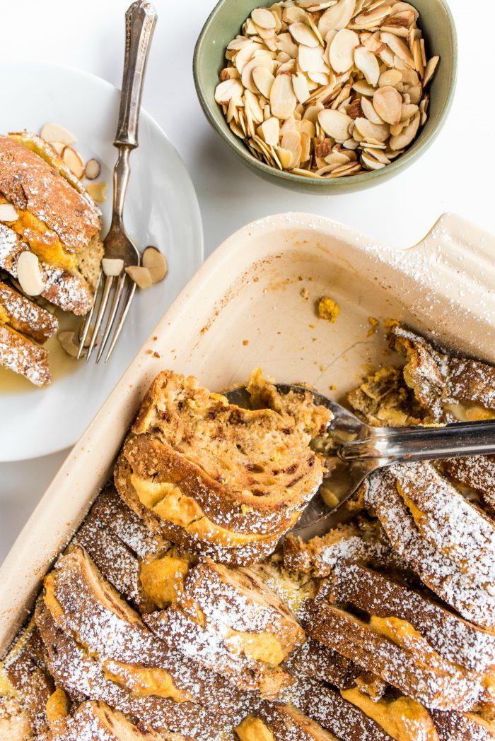 Tasty Pumpkin Maple French Toast Bake