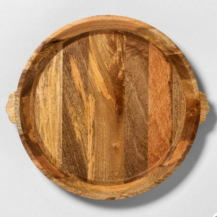 round mango wood board from Target