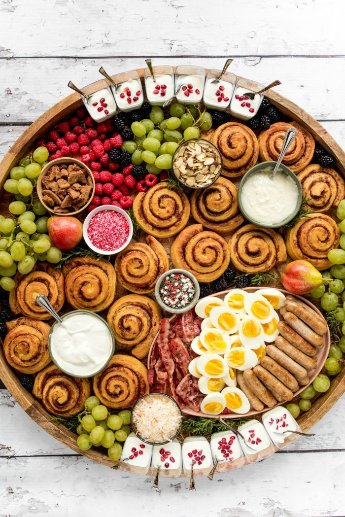 The BEST Epic Christmas Cinnamon Roll Board