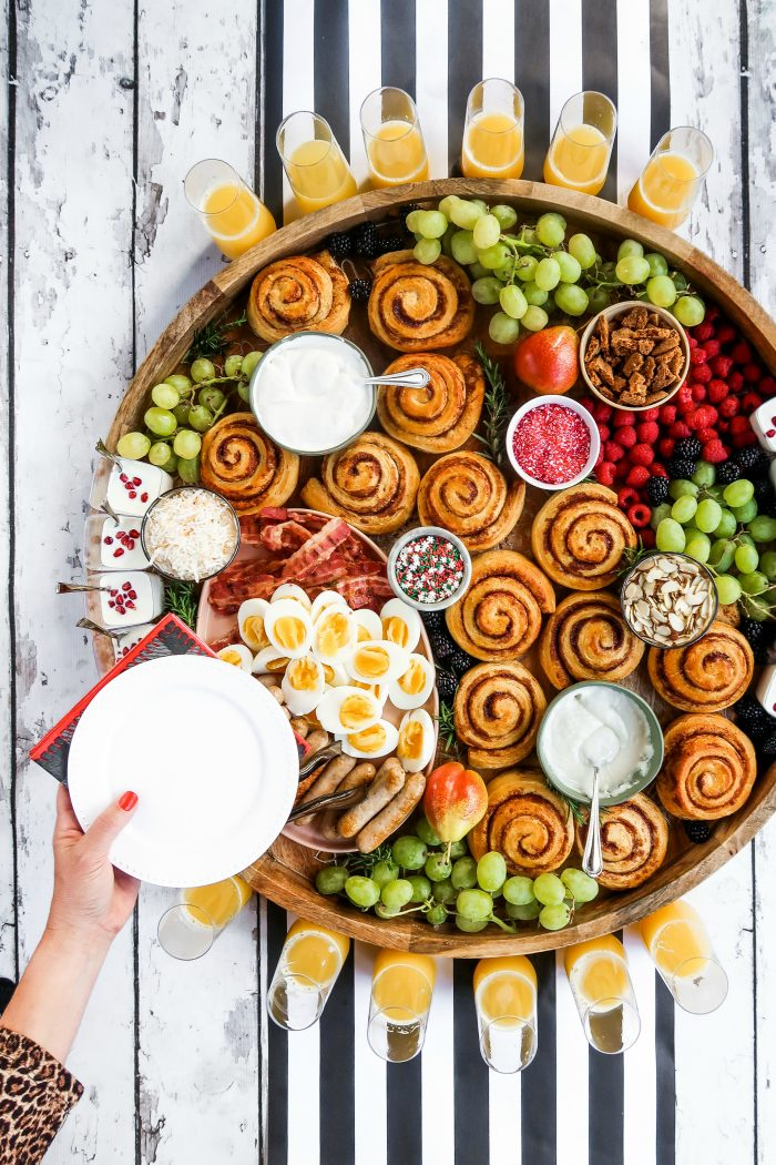 Christmas Cinnamon Roll Board