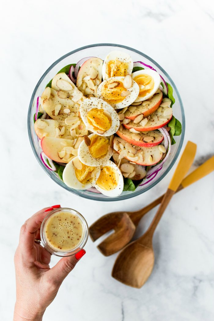 DELISH Layered Apple Spinach Salad