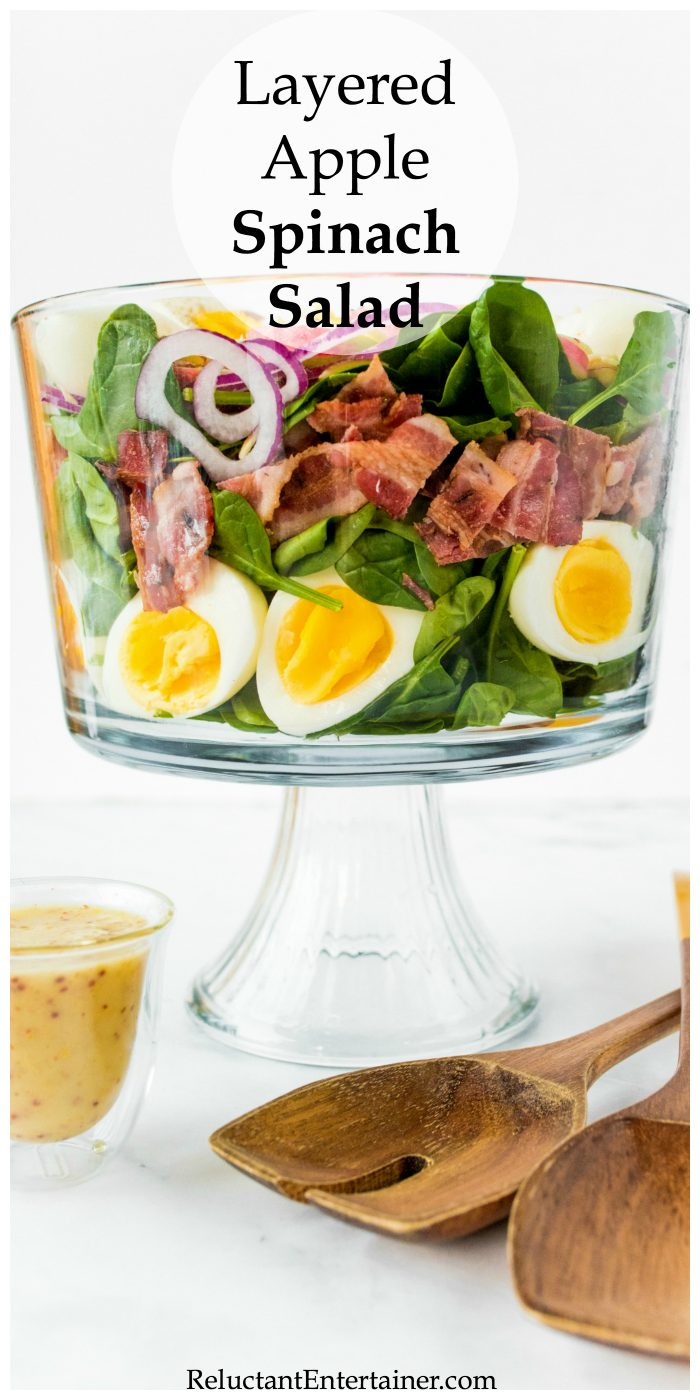 Layered Apple Spinach Salad Recipe