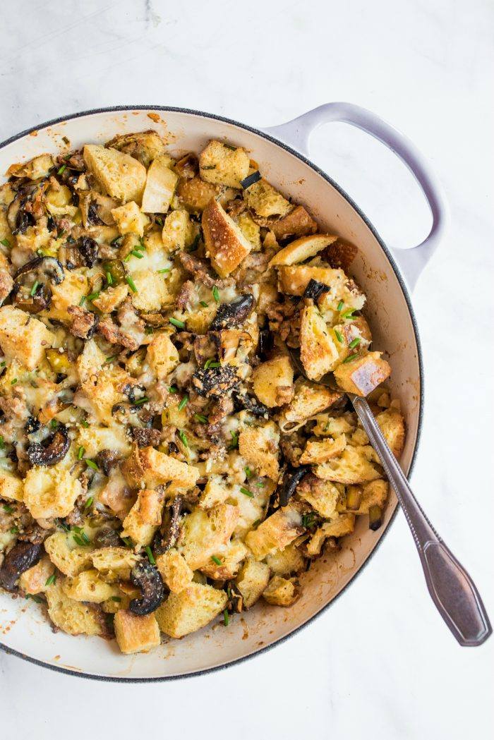 Best Leek Sausage Bread Pudding Recipe