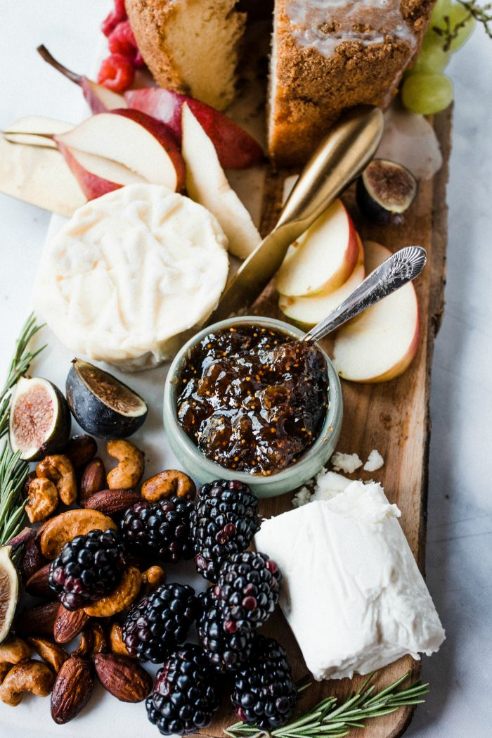 Mini Christmas Cake Cheese Board and Figs