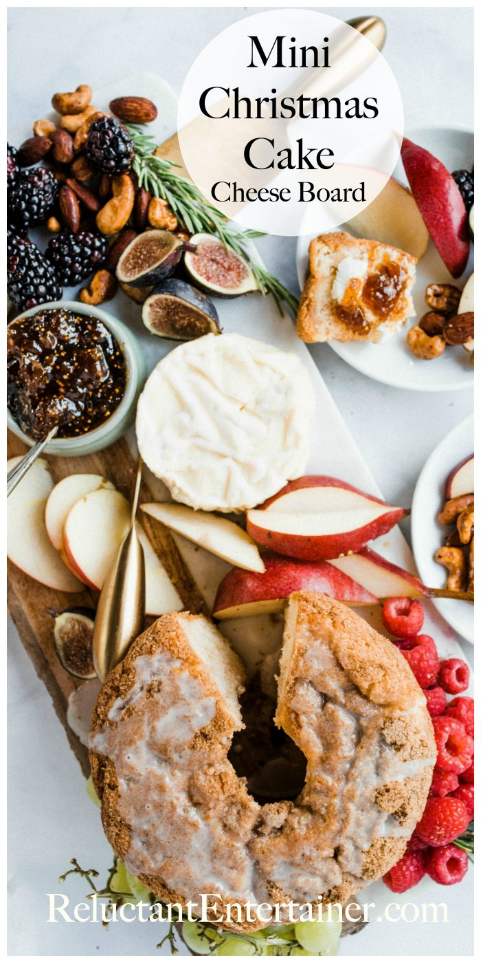 Mini Christmas Cake Cheese Board Recipe
