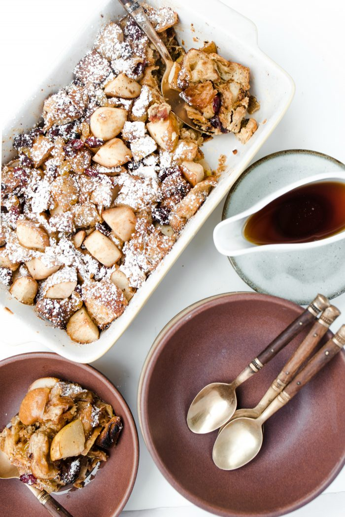 Pear Croissant Breakfast Casserole
