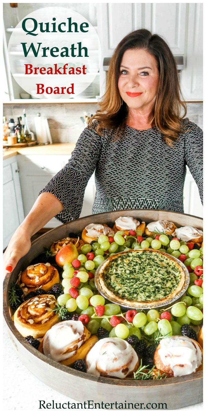 Holiday Quiche Wreath Breakfast Board Recipe