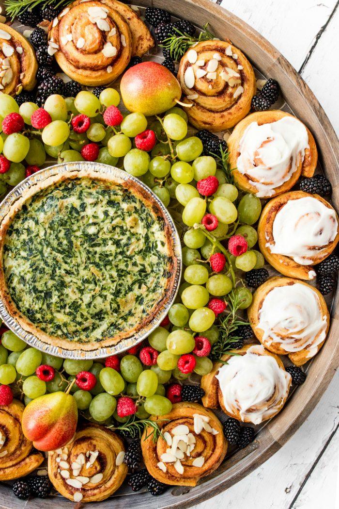Quiche Wreath Breakfast Board Recipe