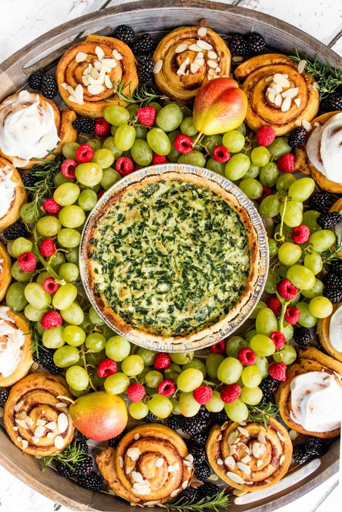 Quiche Wreath Breakfast Board
