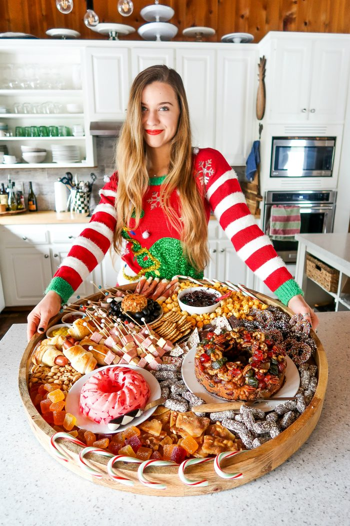 Ugly Christmas Sweaters Charcuterie Board