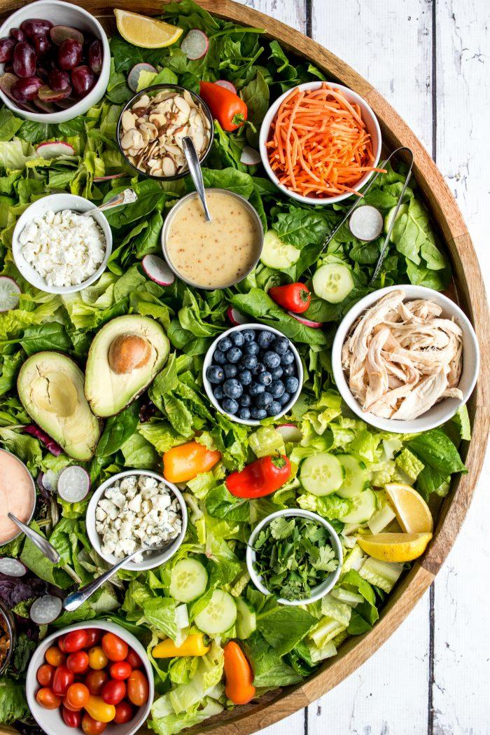 Healthy Epic Dinner Salad Board Recipe