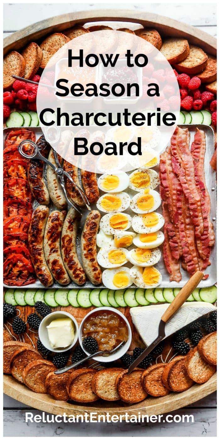 large wood breakfast charcuterie board