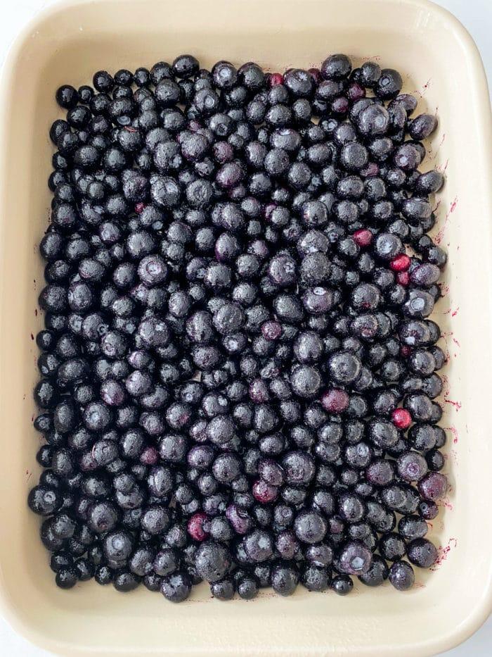 9x13 pan of fresh blueberries