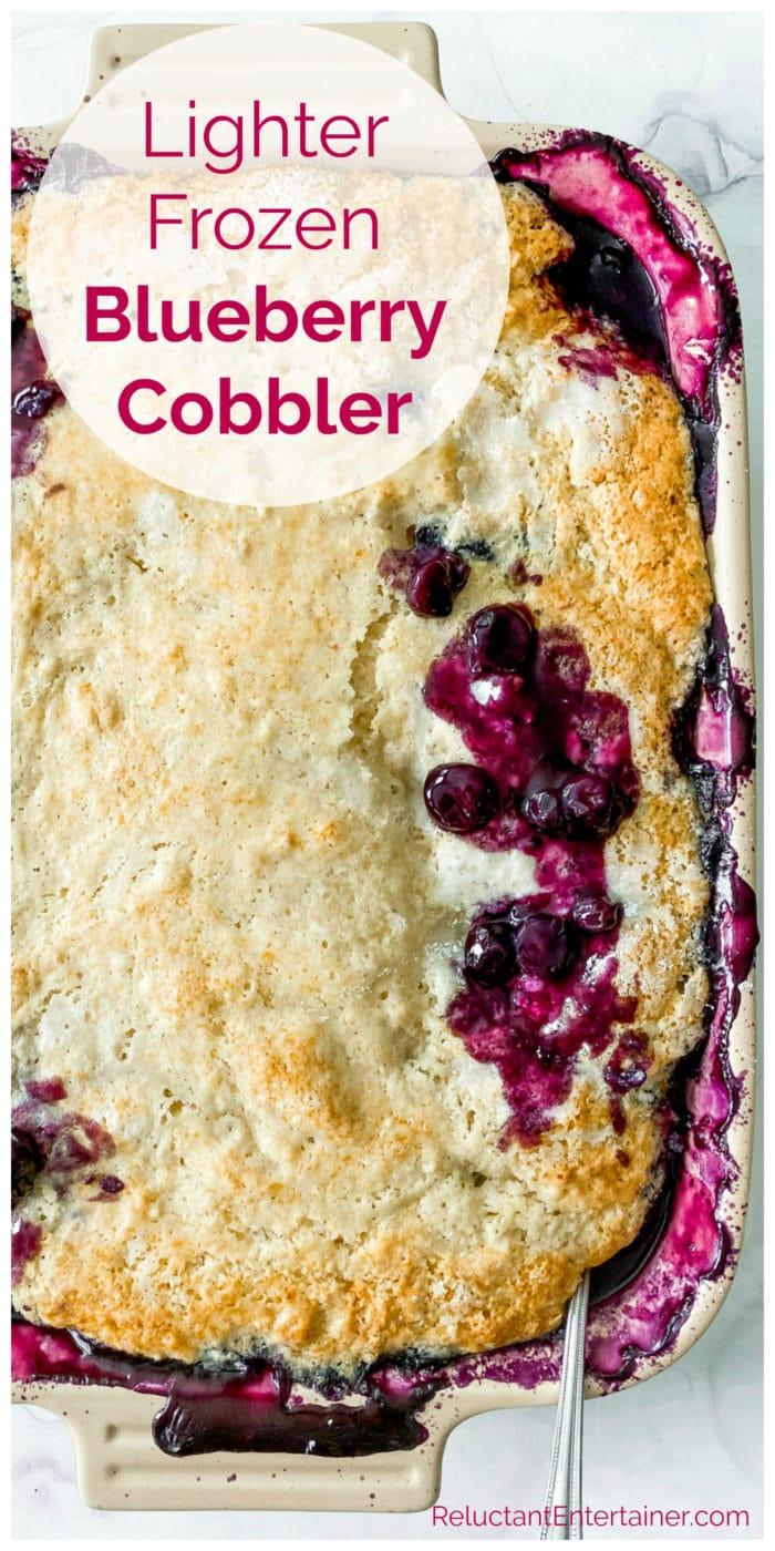 9x13 pan of blueberry cobbler