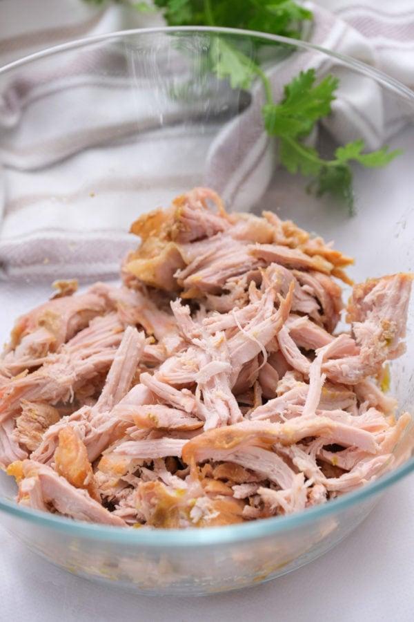 shredded 2-Ingredient Crock Pot Pork Verde