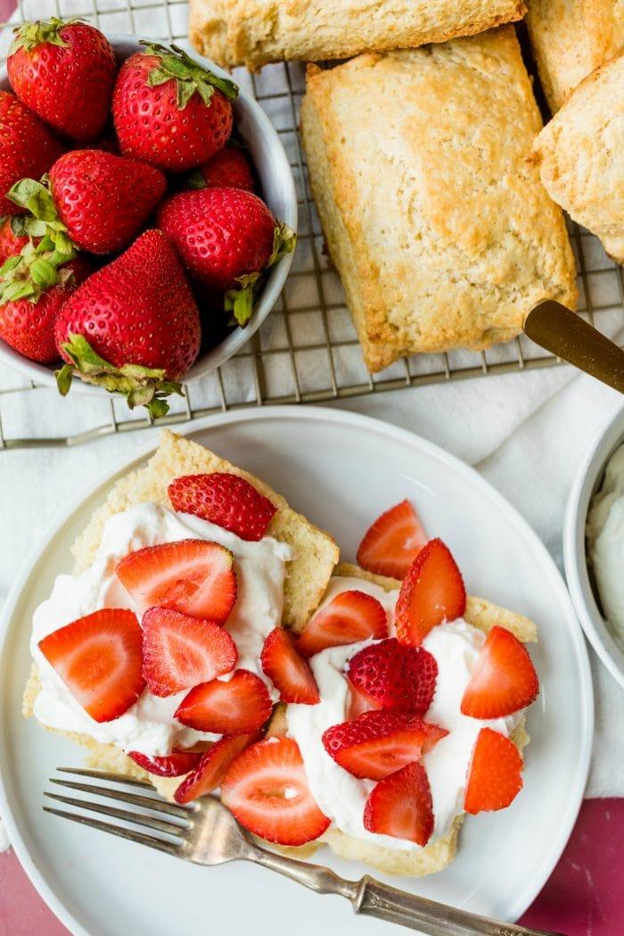 deconstructed strawberry shortcake