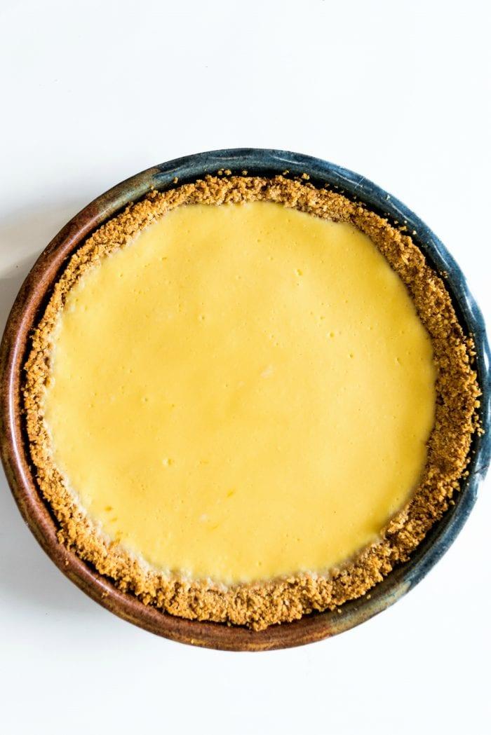 ricotta lemon filling in a Ritz cracker crust