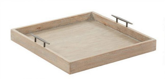 square wood serving tray