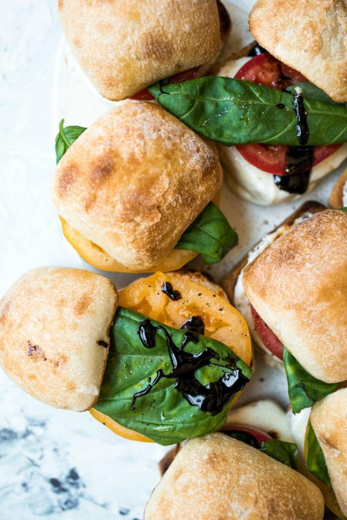 small caprese sandwich sliders