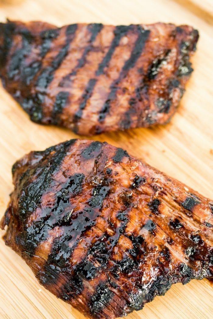 Steak grilled in Balsamic Soy Steak Marinade