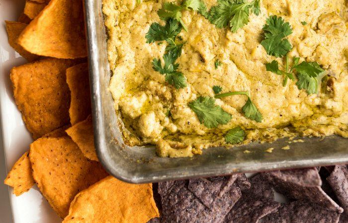 close up of Corn Queso Dip Recipe