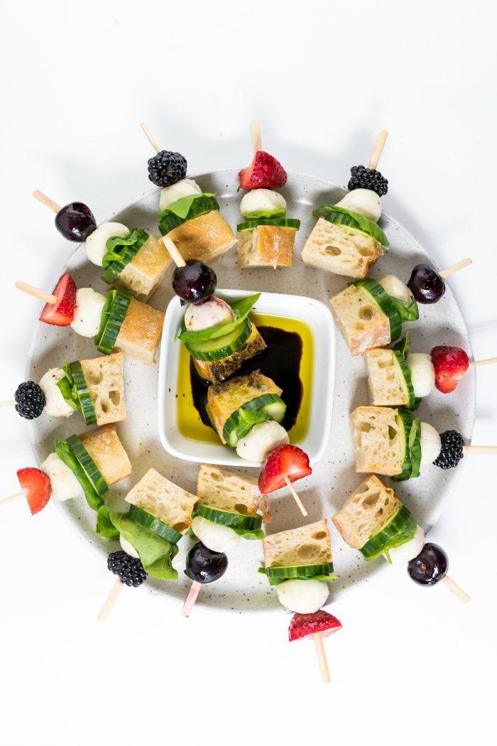 platter of Focaccia Sandwich Kebabs