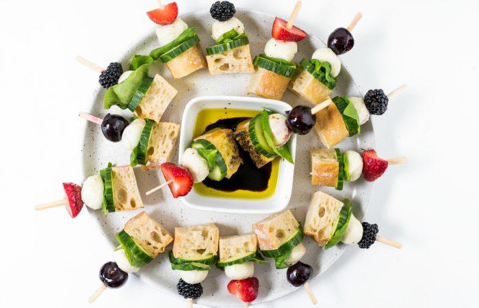 platter of Focaccia Sandwich Bites
