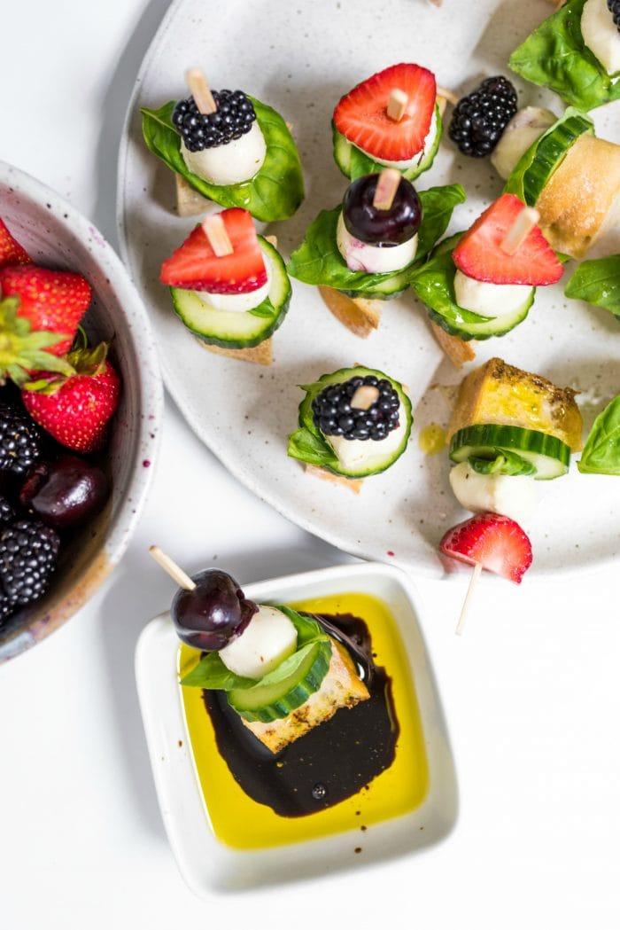 a beautiful plate of Mini Focaccia Sandwich Bites