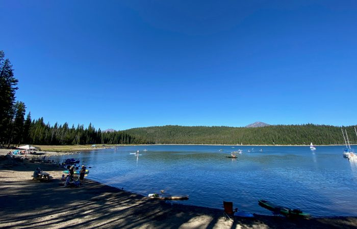elk lake in summer (oregon)