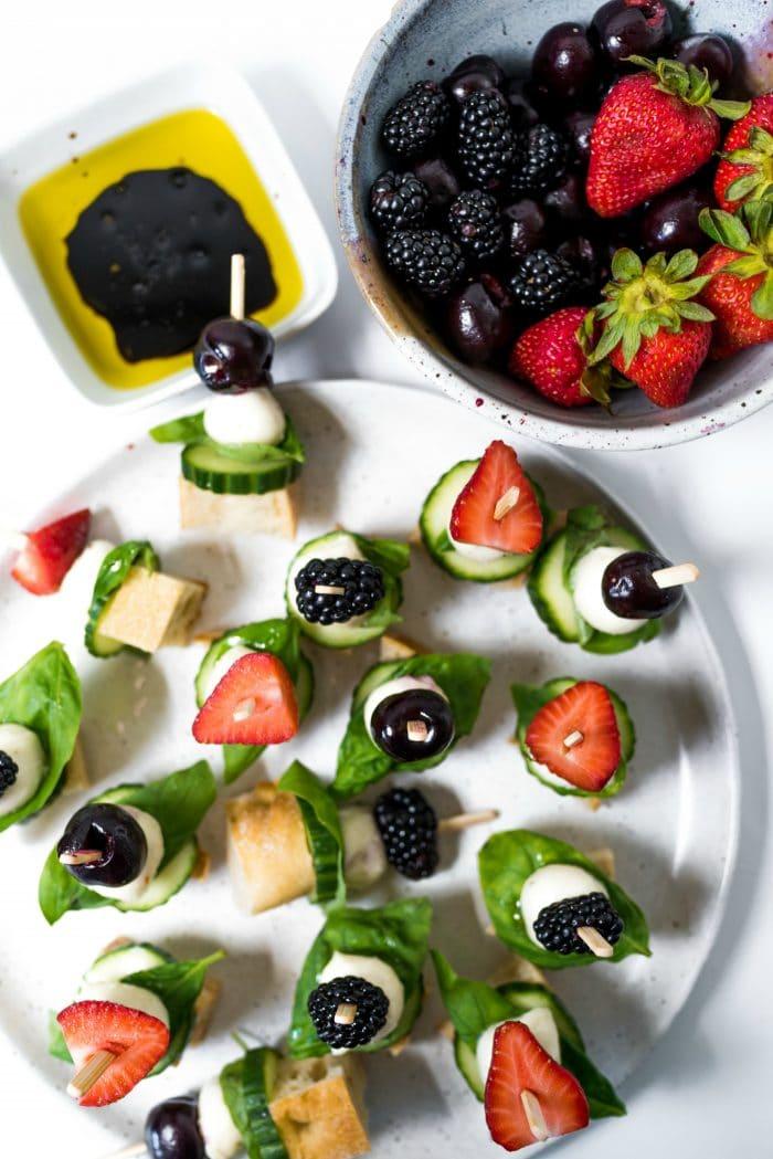 a plate of Mini Focaccia Sandwich Bites