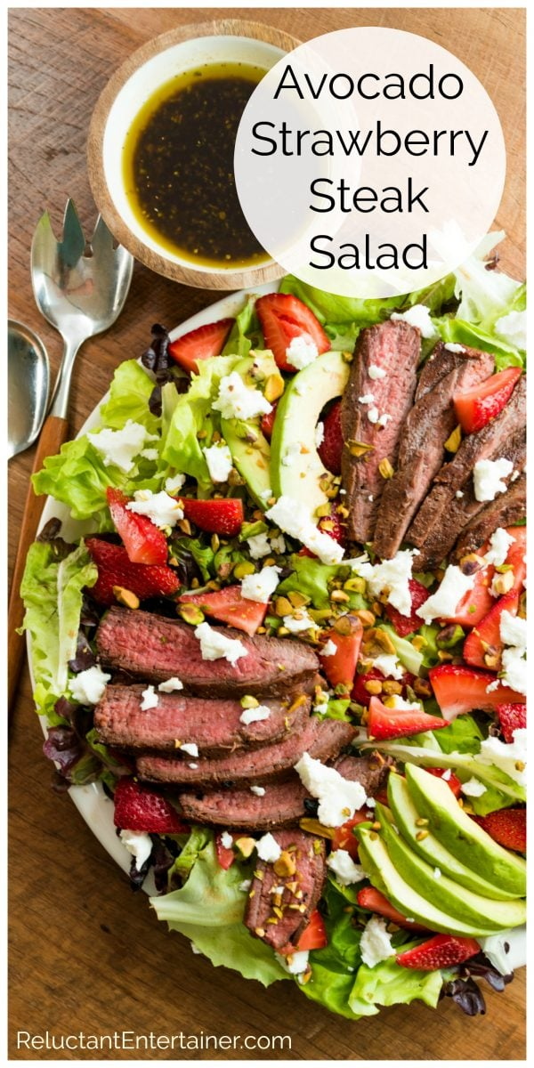 grilled steak salad with strawberries