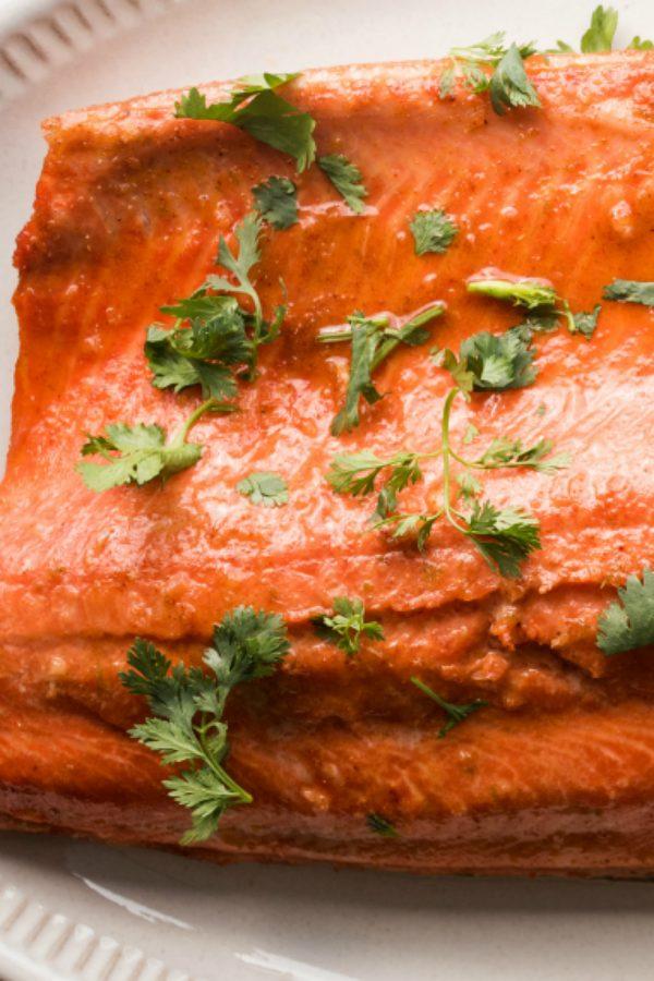 wild alaskan salmon cooked to perfection