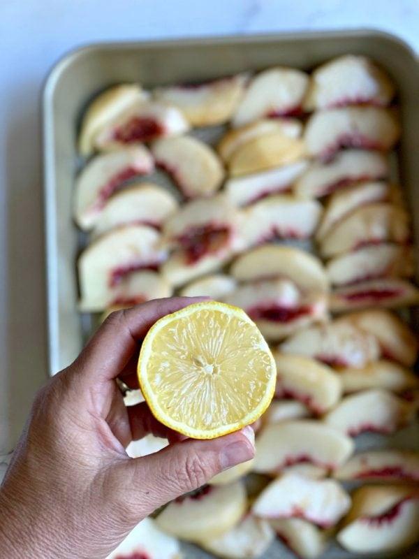 lemon for peach cobbler
