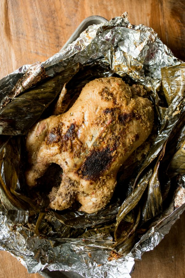 whole duck cooked in foil