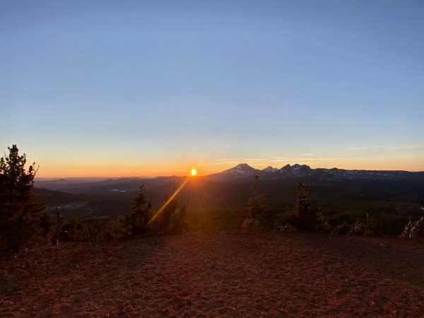 sunset up top of tumalo ridge, OR