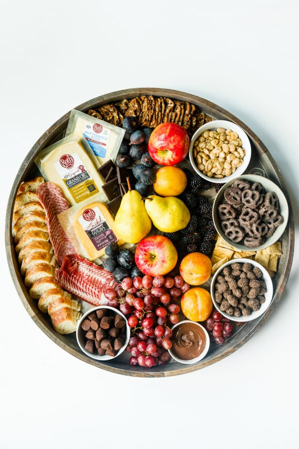 beautifull fall cheese board with Roth cheese