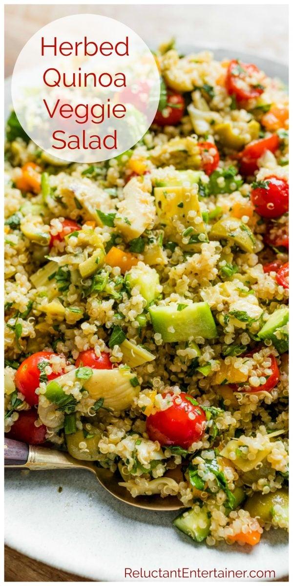 Herbed Quinoa Veggies Salad