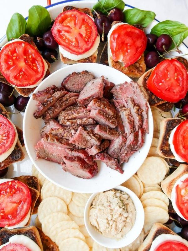 leftover steak for caprese sandwich