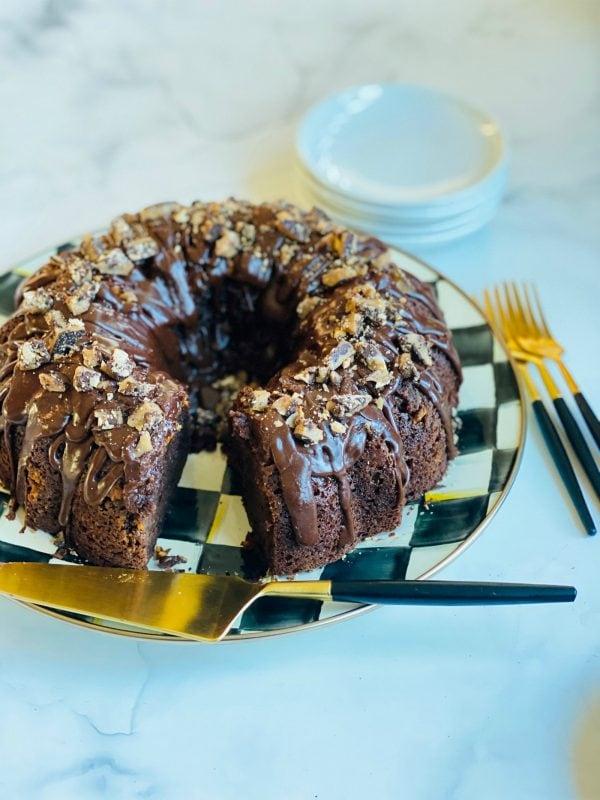 Toffee Crunch Bundt Cake